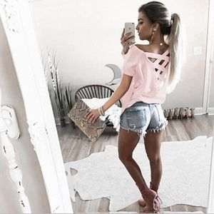 NWT strappy back long sleeve T-shirt